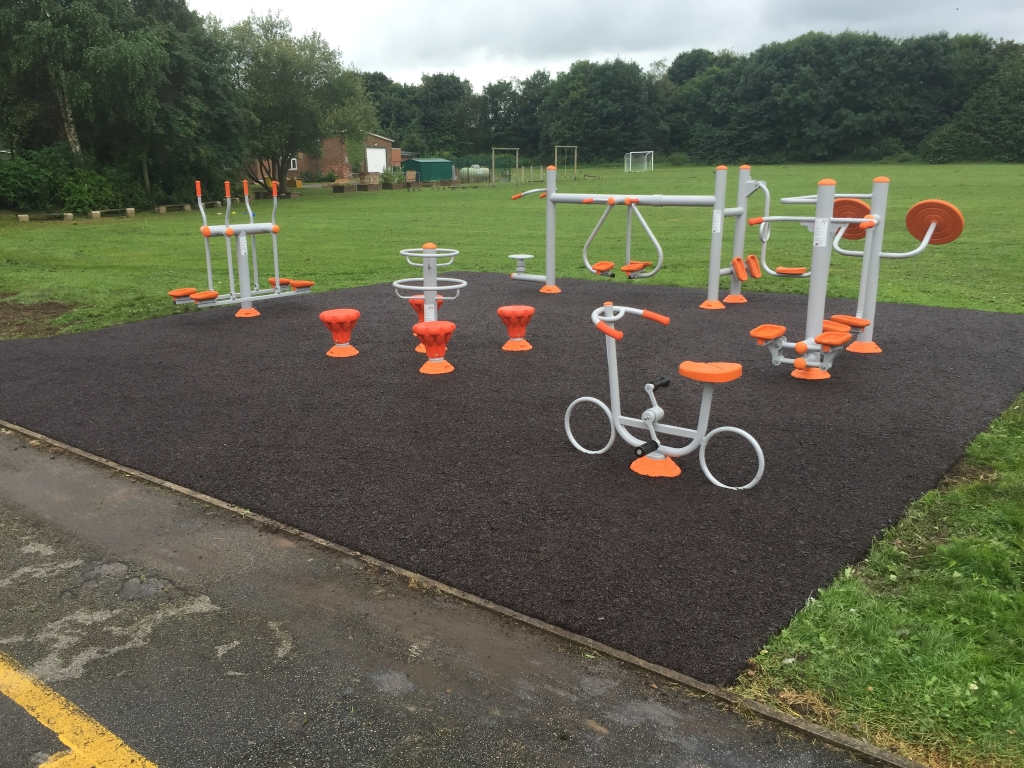How should the community fitness equipment be maintained?