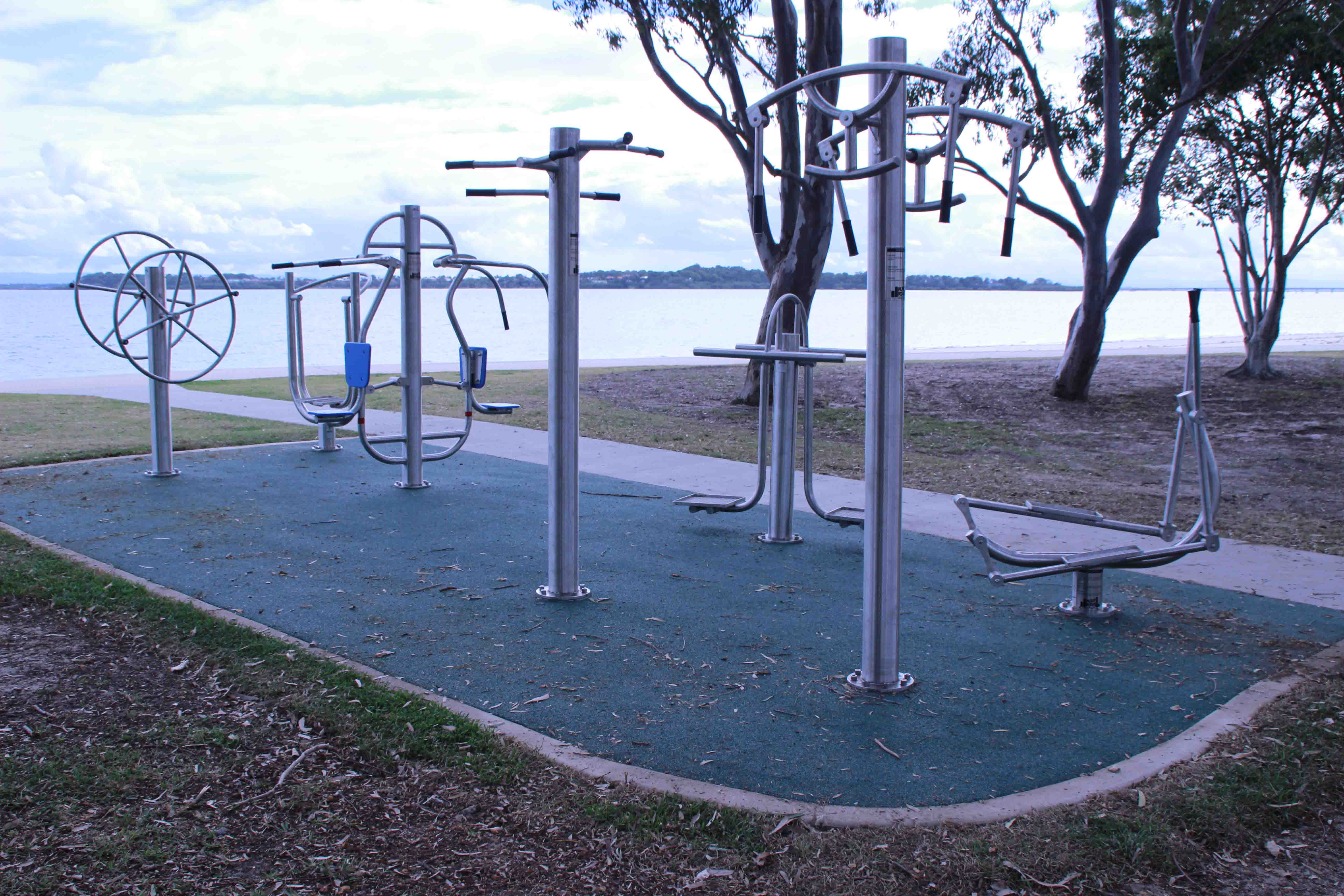 What kind of planning do you need to do before installing outdoor fitness equipment?