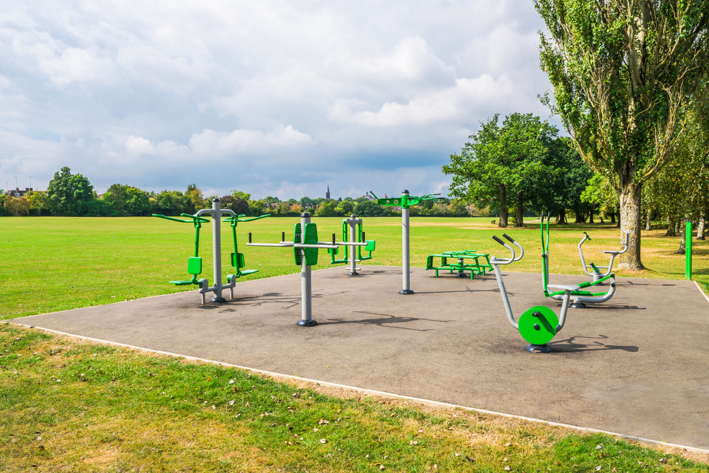 What are the requirements for installing outdoor fitness equipment