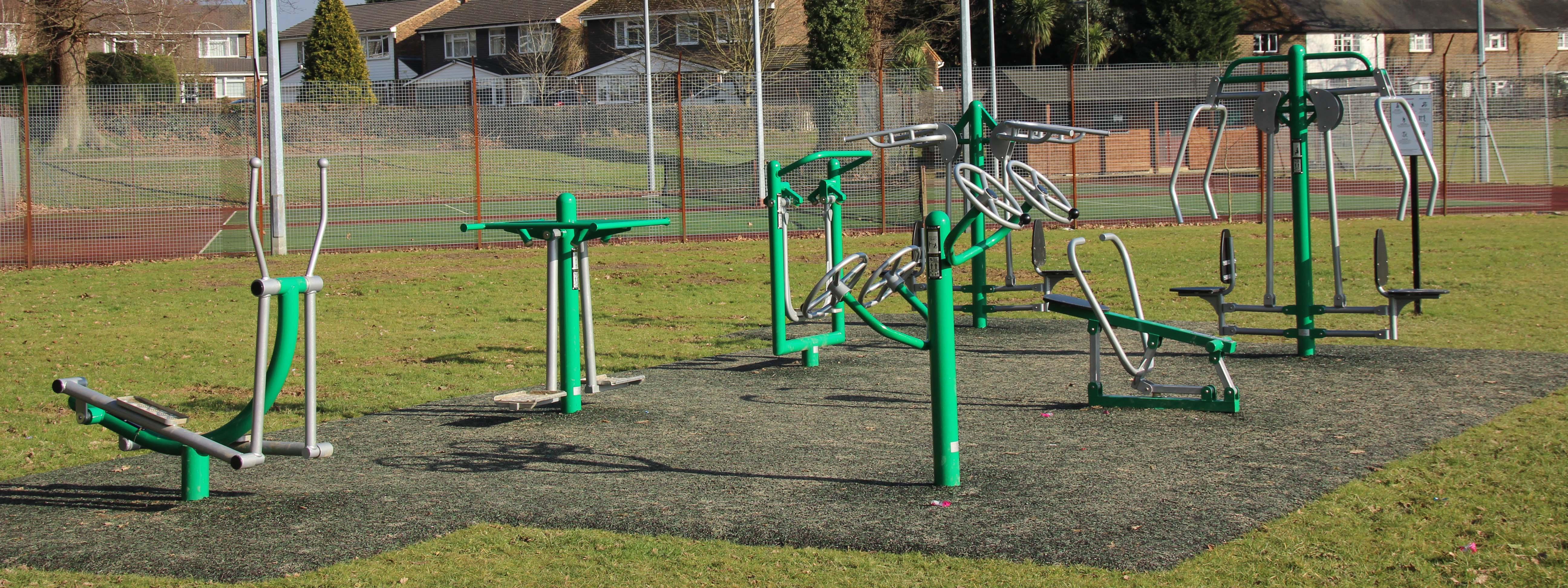 Installation of outdoor fitness equipment